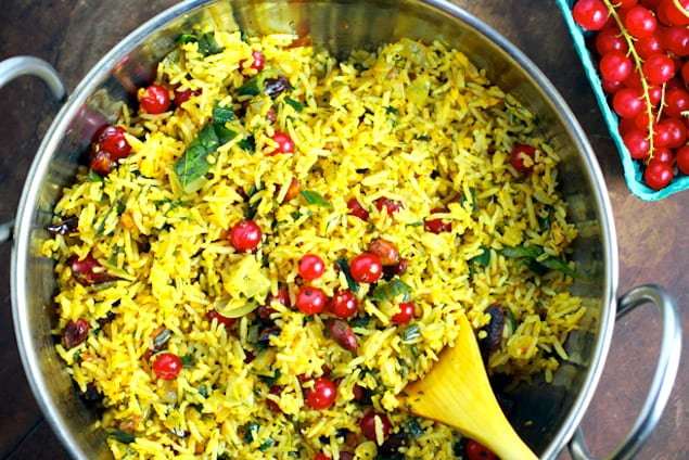 Red Currant Chitranna Rice – Honest Cooking