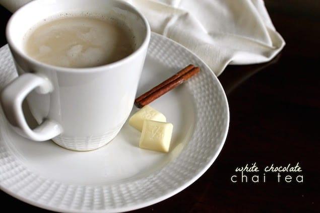chai tea with smooth white chocolate