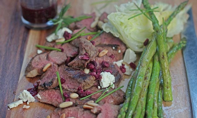 Lamb-asparagus-and-Chia-beetroot-dressing