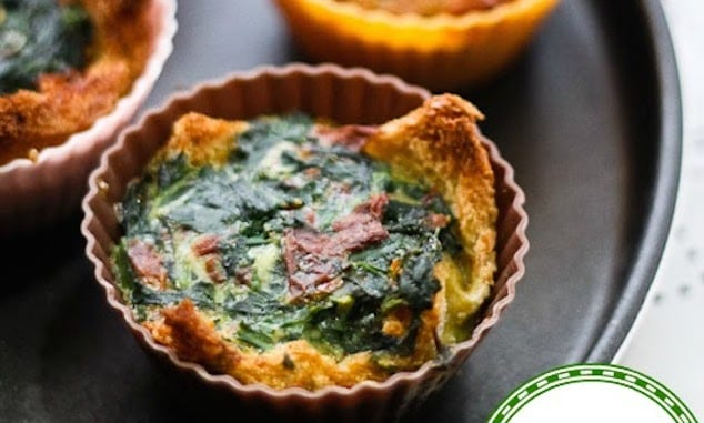 bread tartlets egg spinach sun dried tomato filling