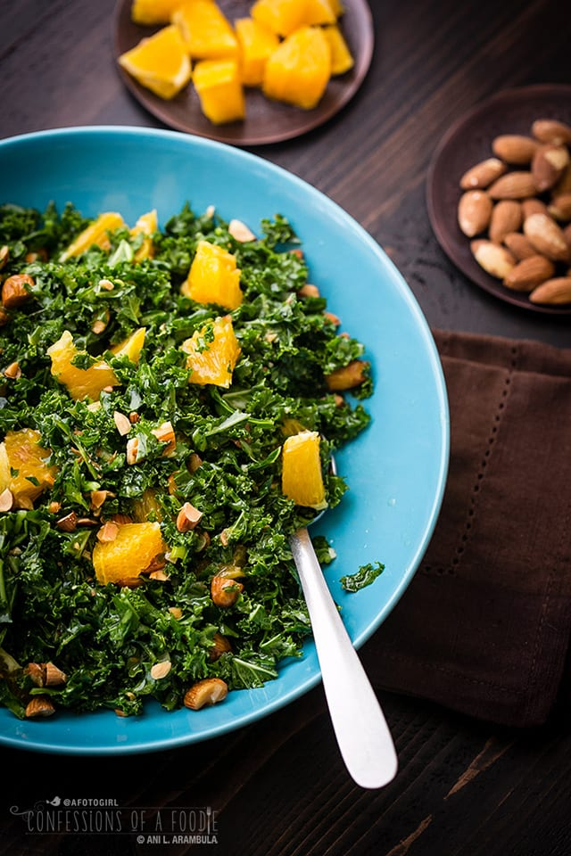 ... to play with your food with this recipe: We're massaging kale today