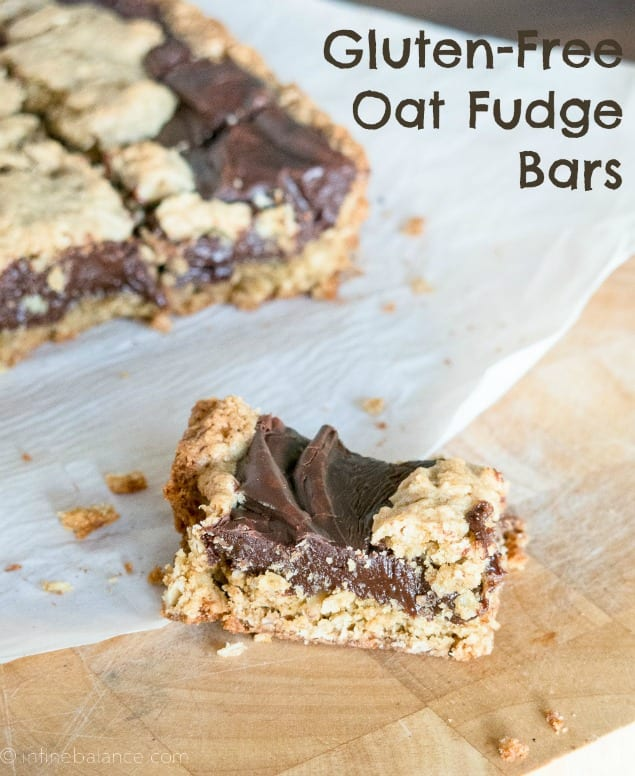 Gluten-Free Oat Fudge Bars
