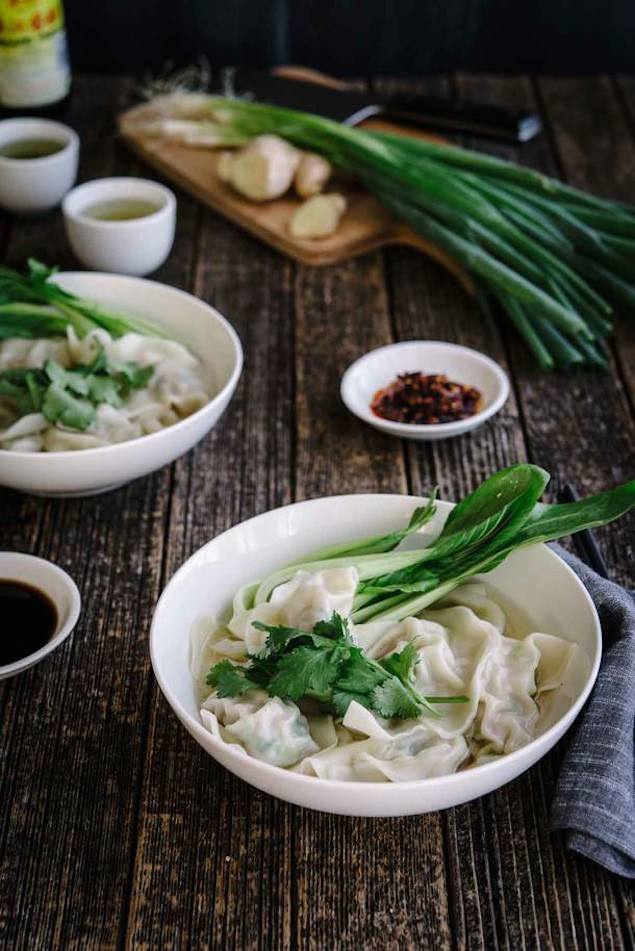 Pork, Ginger and Spring Onion Dumpling Soup – Honest Cooking
