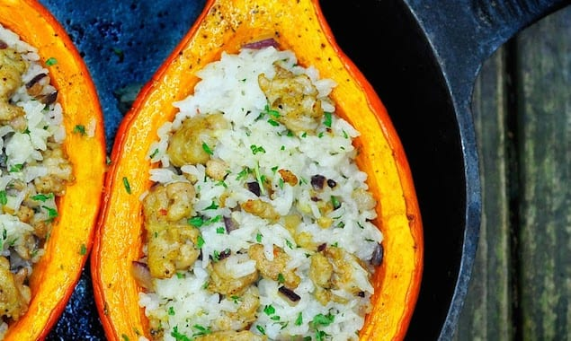 Kuri Squash with Sausage and Rice 8507
