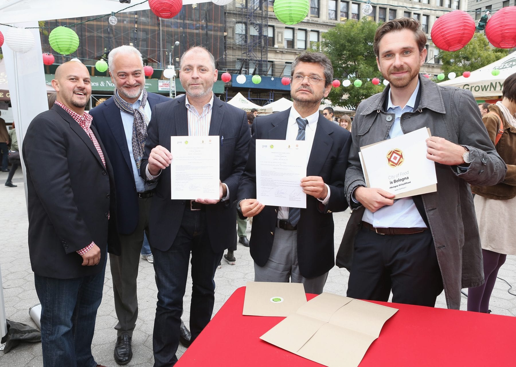 City Of Bologna Celebrates Partnership With GrowNYC At Union Square's Night Market