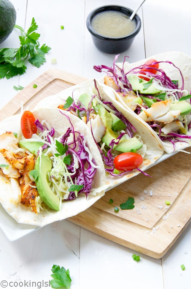 Blackened Fish Tacos with Cabbage Slaw – Honest Cooking