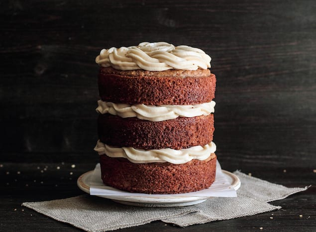 Almond and Maple Syrup Spice Cake