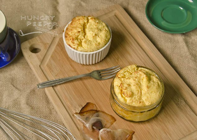 Three-Cheese Souffle Recipe — Dishmaps