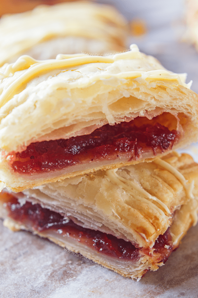 Flaky Cranberry and Orange Puff Pastry Hand Pies