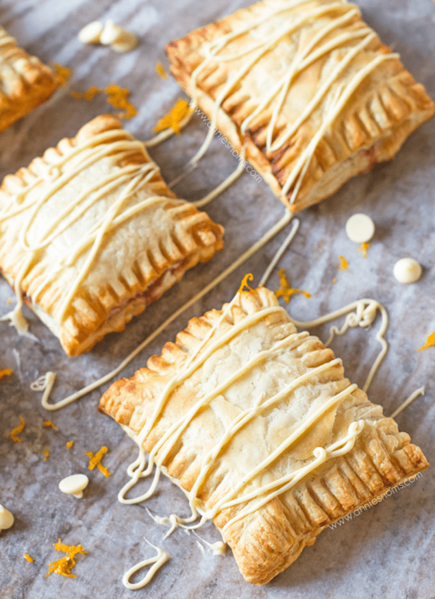 Flaky Cranberry and Orange Puff Pastry Hand Pies – Honest Cooking