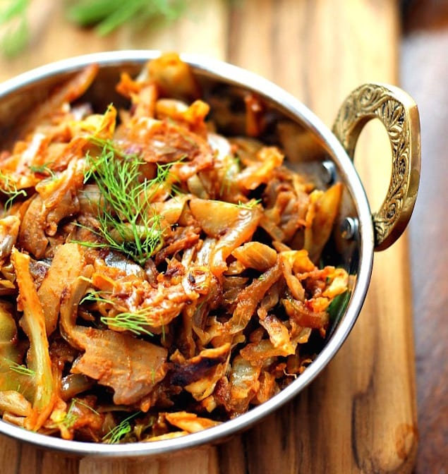 Indian Style Spiced Cabbage