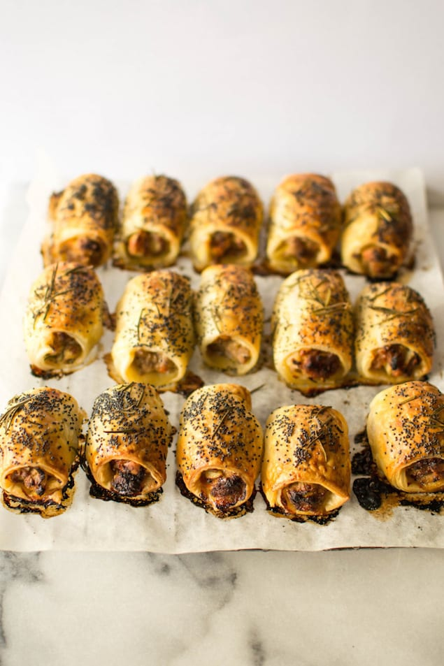 Leek and Rosemary Pork Sausage Rolls