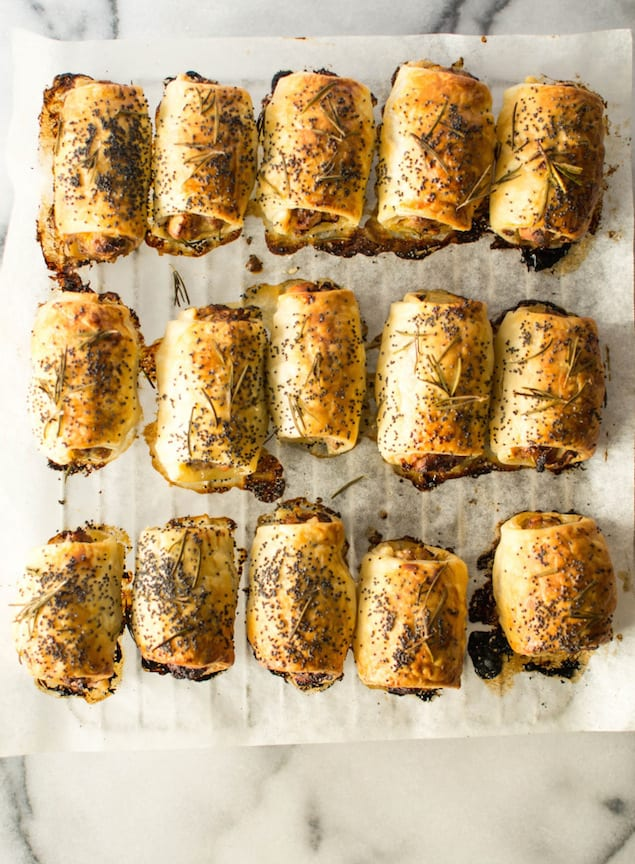 leek and rosemary pork sausage rolls print sausage rolls are a classic ...