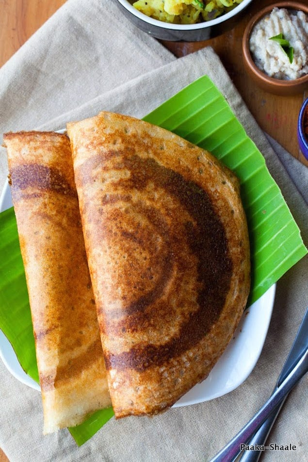 Masala Dosa: Rice and Lentil Crepe