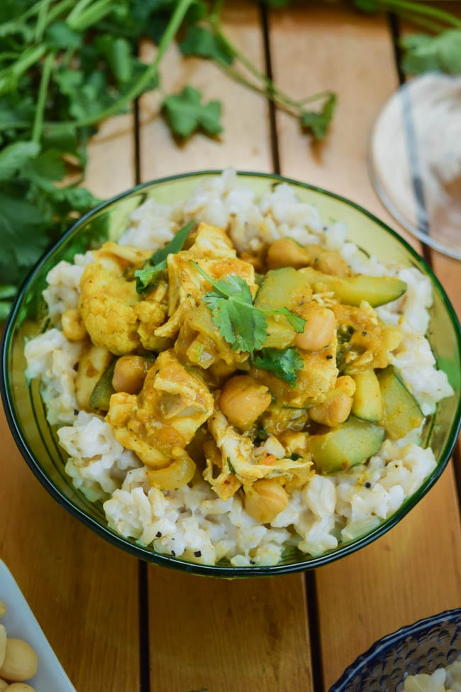 Thai Pumpkin Chicken Curry with Coconut Ginger Brown Rice (6)