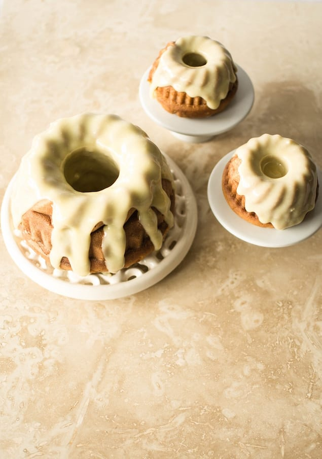 Vanilla Malted Bundt Cake with White Chocolate and Cardamom Frosting ...