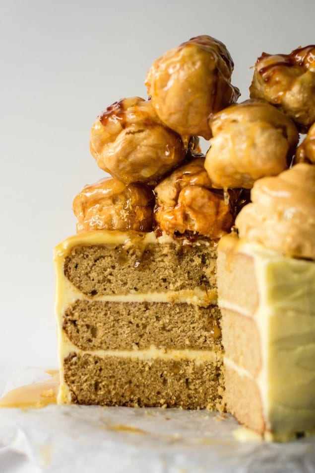 Profiteroles Tower Cake Recipe