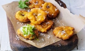 Twiced fried plantains