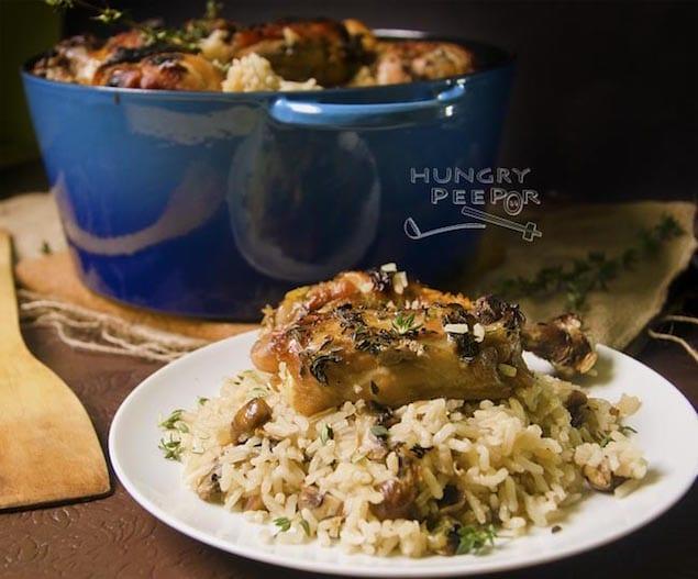 Cast-Iron-Chicken-Mushroom-Rice-2
