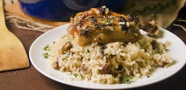 Cast-Iron-Chicken-Mushroom-Rice-2