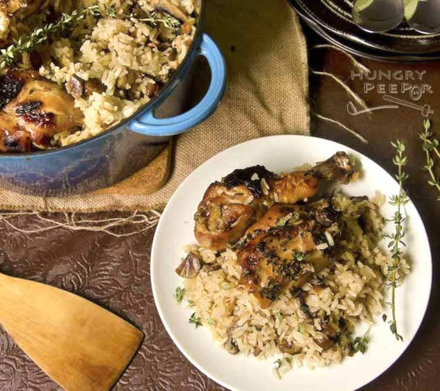 Cast-Iron-Chicken-Mushroom-Rice-3