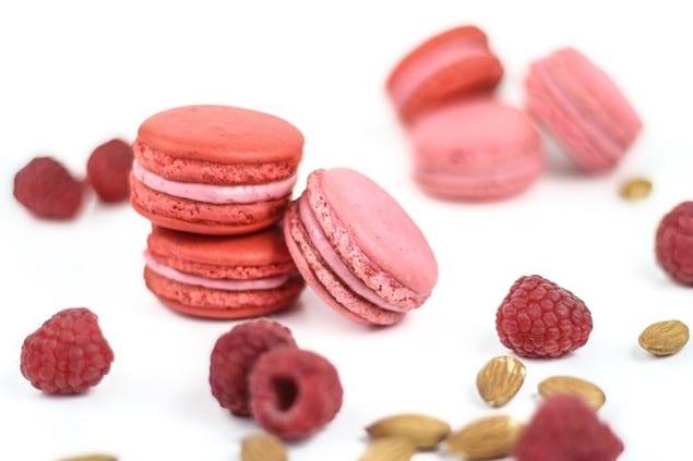 Raspberry-Almond-Macarons-01831-740x493