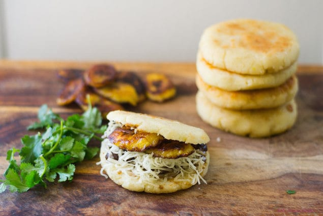 Feed Your Creativity — Black Bean Arepas with Plantains and Havarti ...