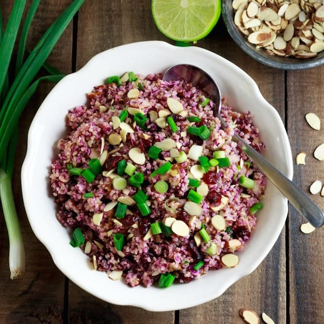 Quinoa with Lime Vinaigrette and Red Cabbage – Honest Cooking