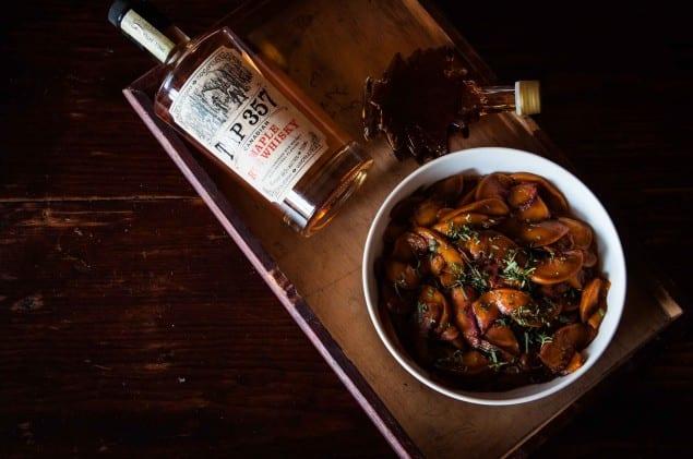 Maple Whisky, Maple Syrup Peach Buckle