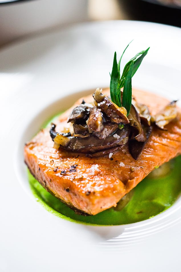steelhead with pea sauce-211