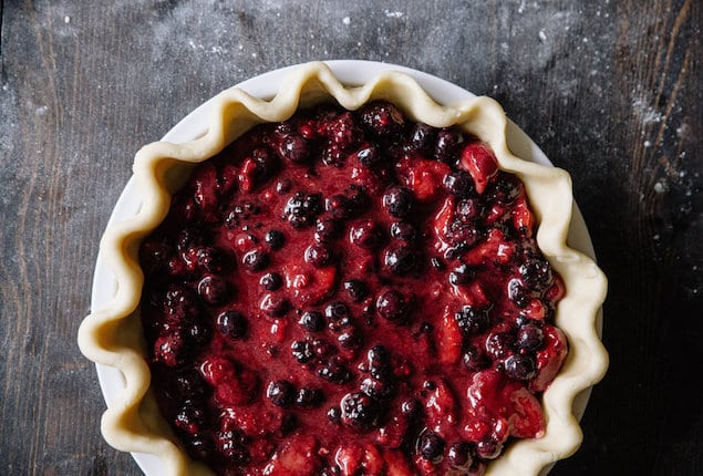 balsamic berry pie