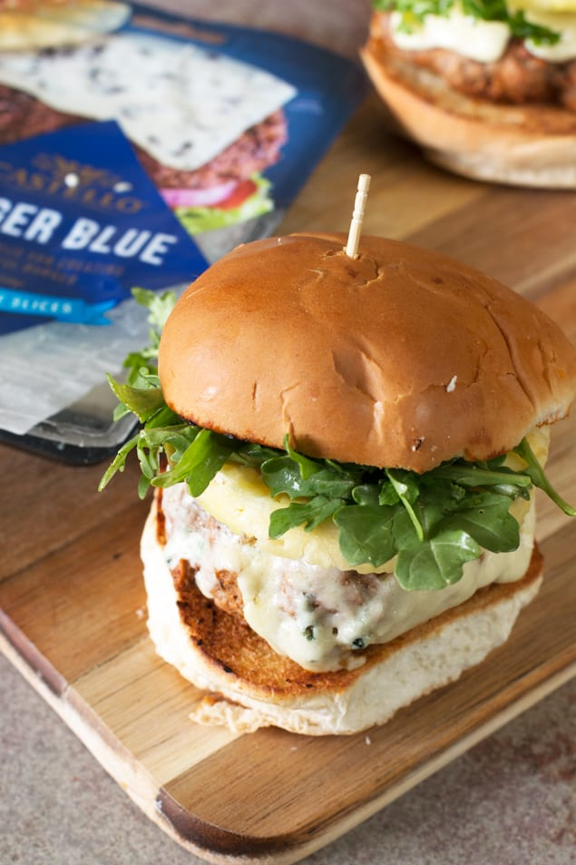 salmon blue cheese burgers