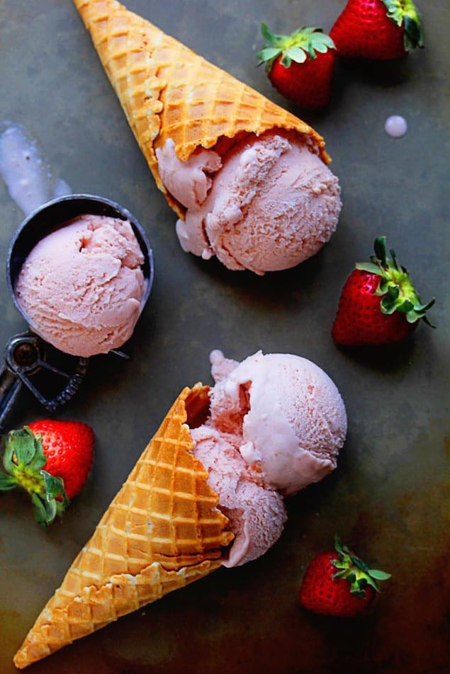 fresh strawberry ice cream print homemade strawberry ice cream made ...