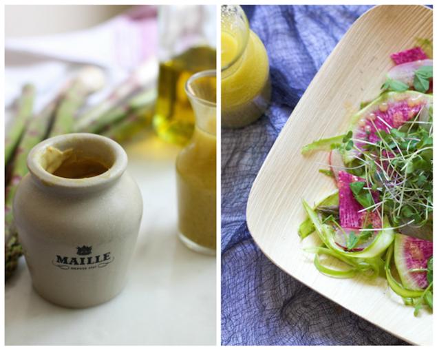 Vegan+Lemon+Dijon+Vinaigrette+over+Shaved+Asparagus+&+Radish+Salad