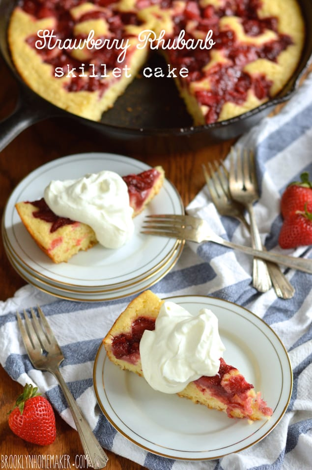 ... tart from the buttermilk and rhubarb, this tender cake is fit for the