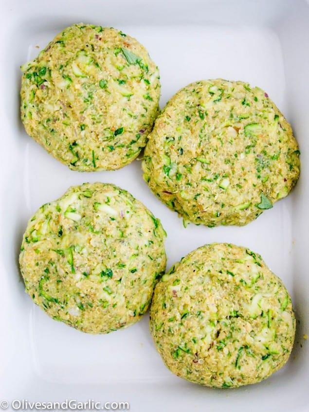Zucchini Veggie Burgers with Quinoa – Honest Cooking