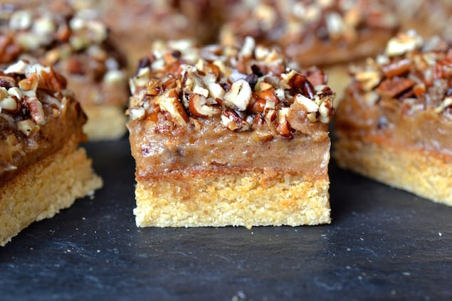 Caramel and Pecan Topped Shortbread Bars
