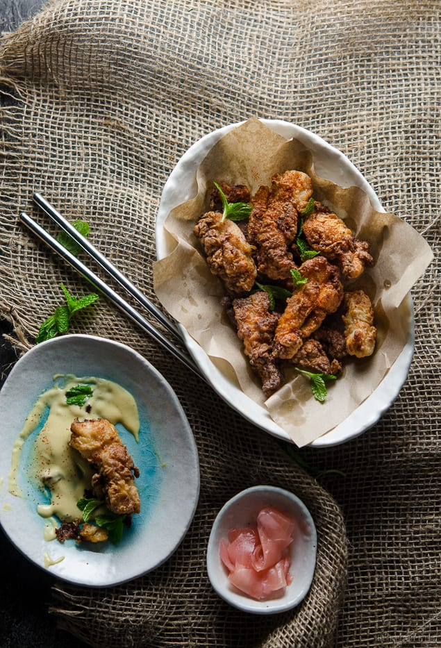 Miso and ginger fried chicken
