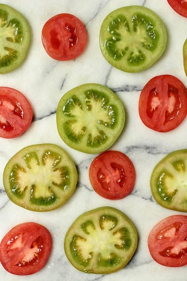 Fried Green Tomato Salad with Yogurt Dressing