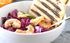 Grill Like an Italian with Colavita: Grilled Radicchio and Shrimp Salad with Grilled Citrus Vinaigrette