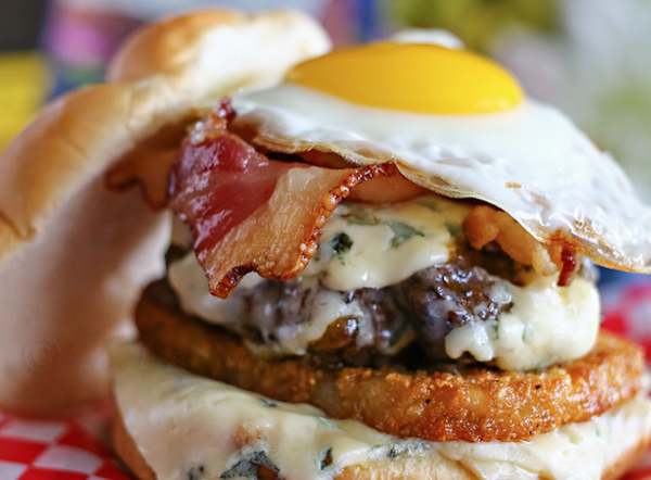 Castello Summer of Blue — Blue Cheese Breakfast Burger