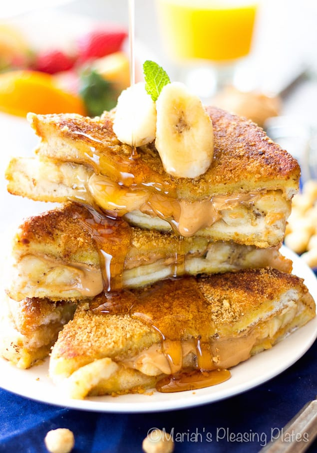 Stuffed Peanut Butter and Banana French Toast – Honest Cooking