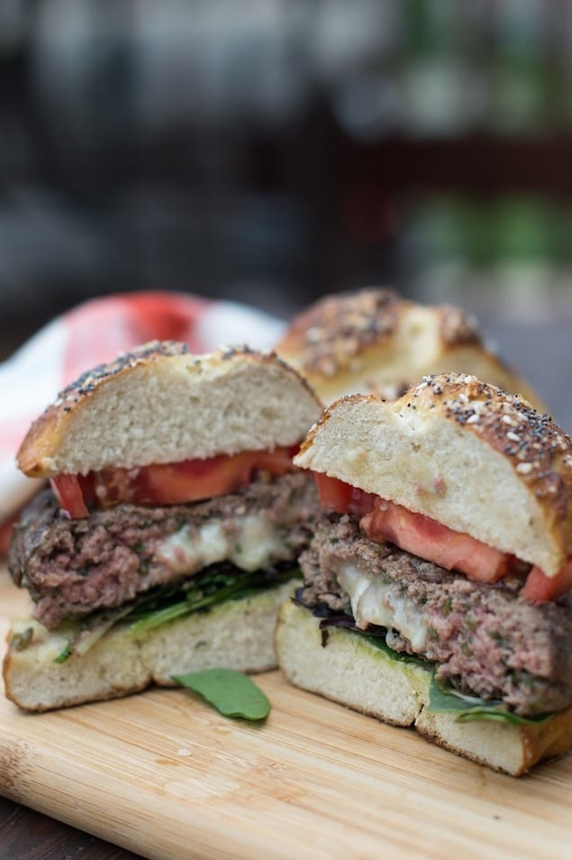 Castello Summer of Blue — Spicy Blue Brie Stuffed Burger
