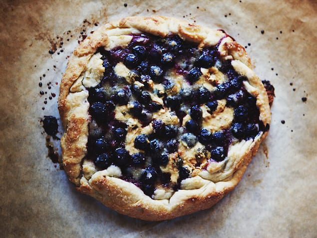 Caramelized White Chocolate and Blueberry Crostata