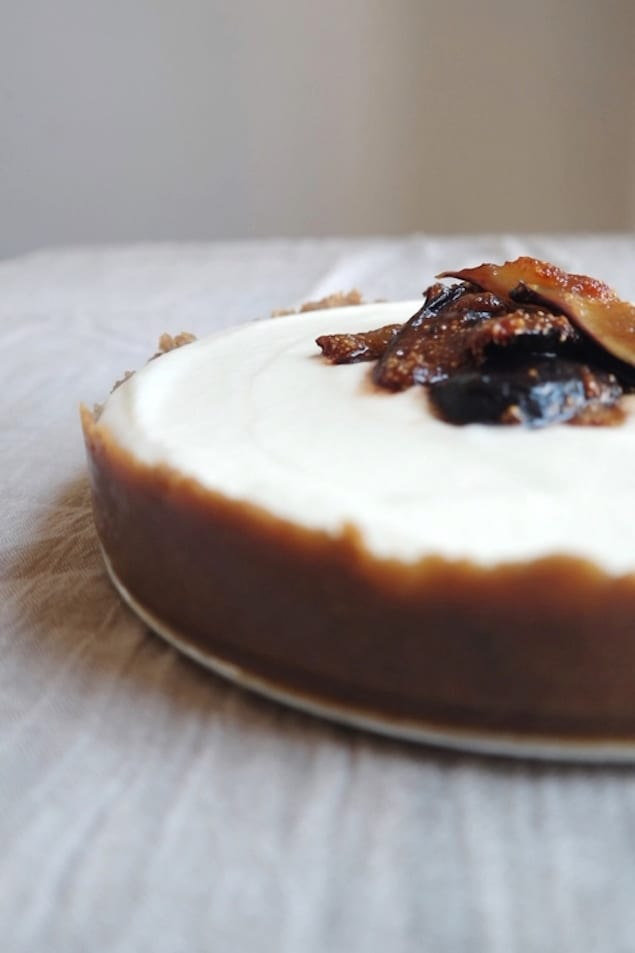no bake mascarpone cheesecake with figs honest cooking