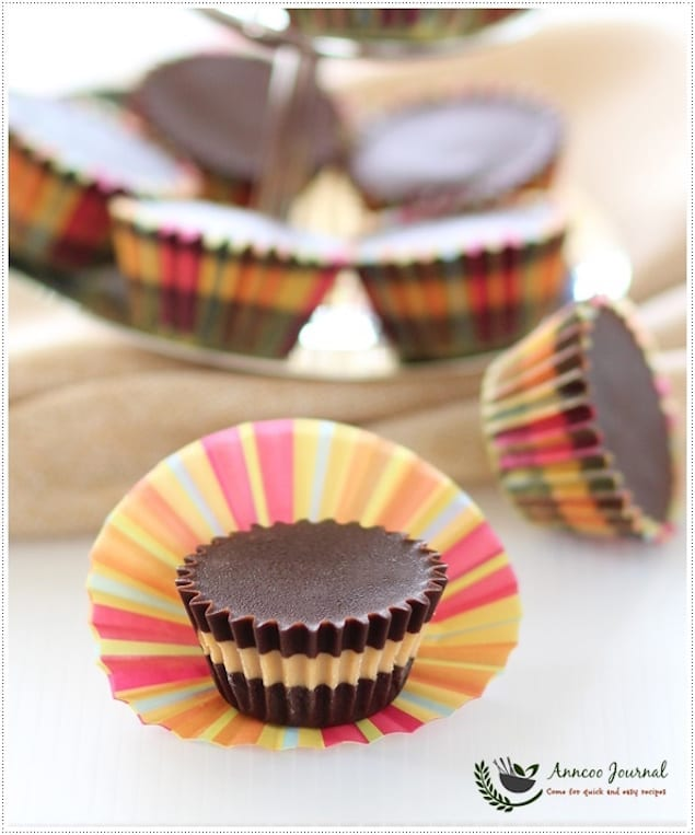 Layered Chocolate and Peanut Butter Cups