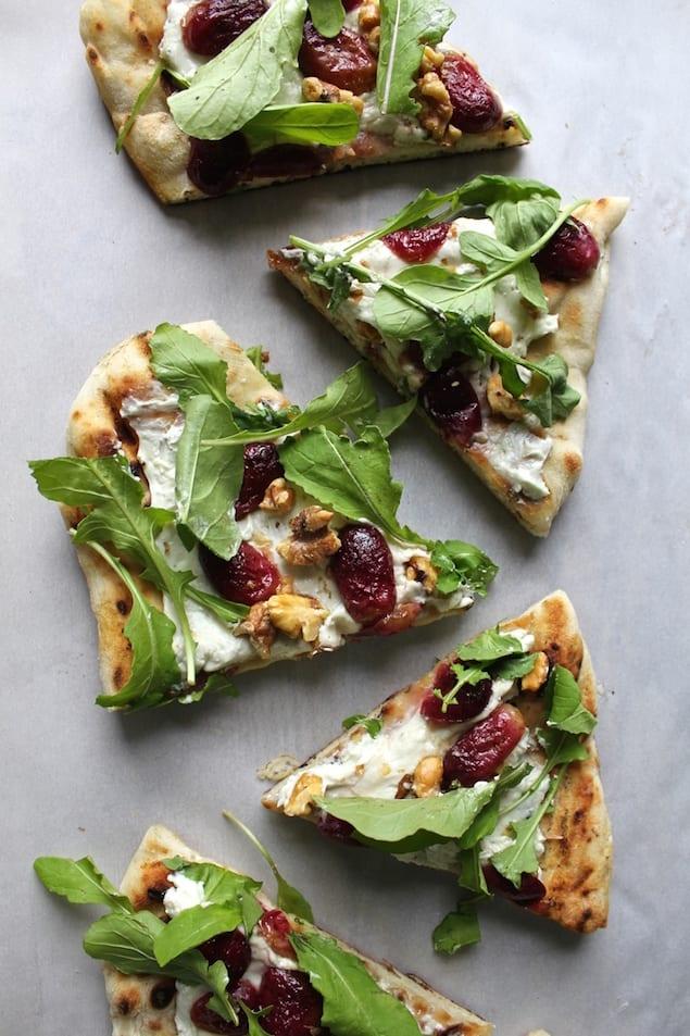 Roasted Grape and Arugula Grilled Flatbread