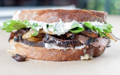 Leftover Steak Sandwich with Fresh Horseradish Aioli