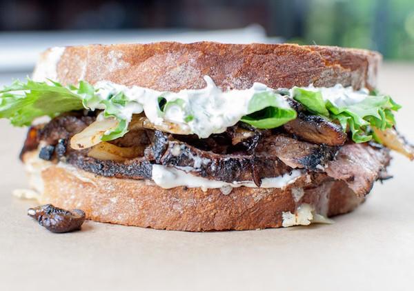 Leftover Steak Sandwich with Fresh Horseradish Aioli
