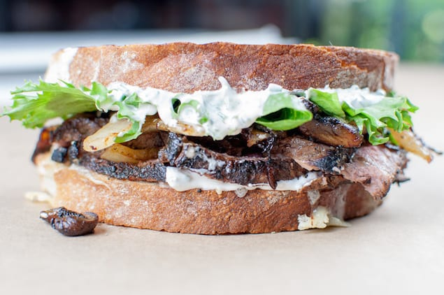 Leftover Steak Sandwich With Fresh Horseradish Sauce